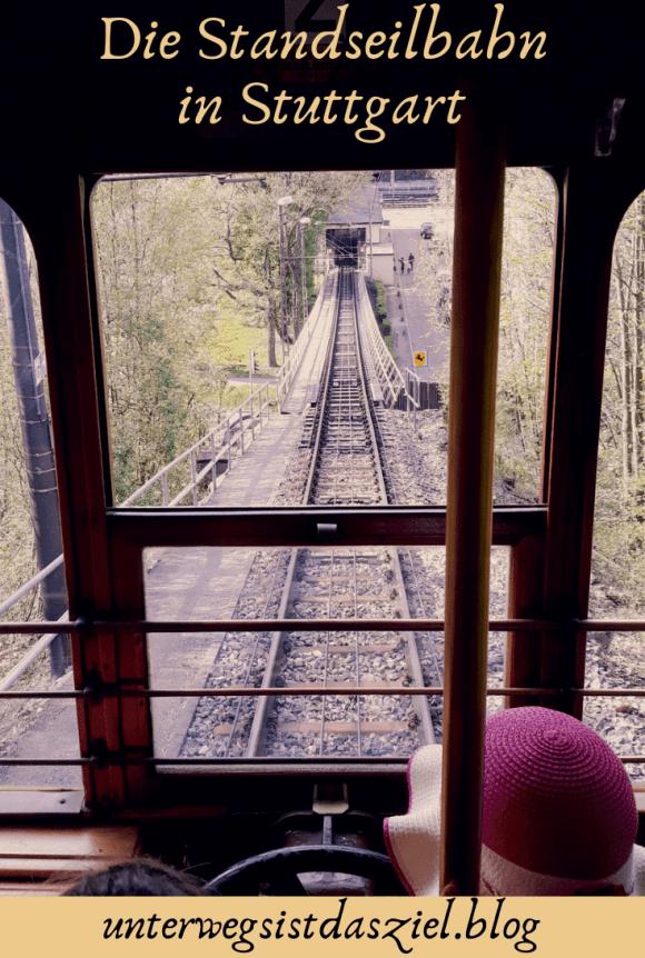 Der untere Bahnhof der Standseilbahn Stuttgart steile Trasse