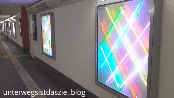 Lichtkunst im Bahnhof Celle