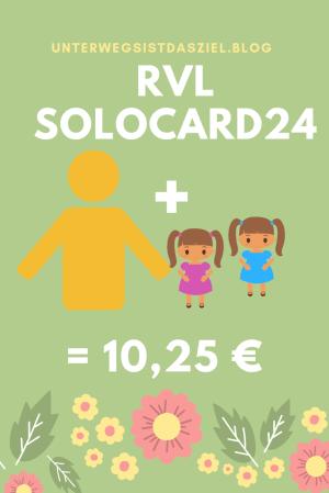 die Solocard24 des RVL gilt für einen Erwachsenen und zwei oder mehr Kinder