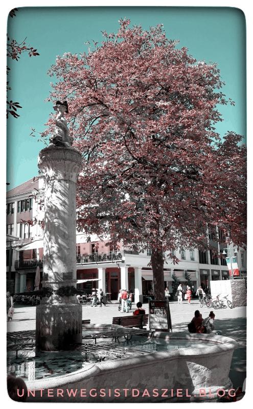 Brunnen am alten Marktplatz in Lörrach