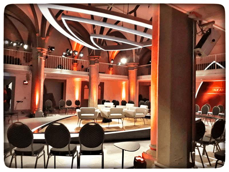 das Studio für Talk am See in der Stiftskirche St. Johann in Konstanz