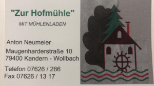Mühlenladen zur Hofmühle in Kandern