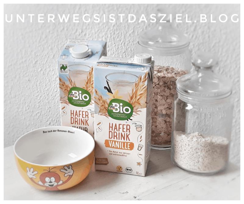 Vegane Alternative zu Milch für das Müsli:  Bio Haferdrink Vanille von DM