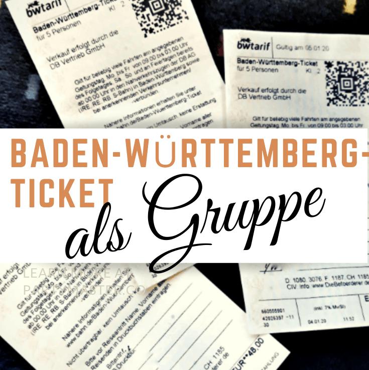 Als Gruppe mit dem Baden-Württemberg-Ticket