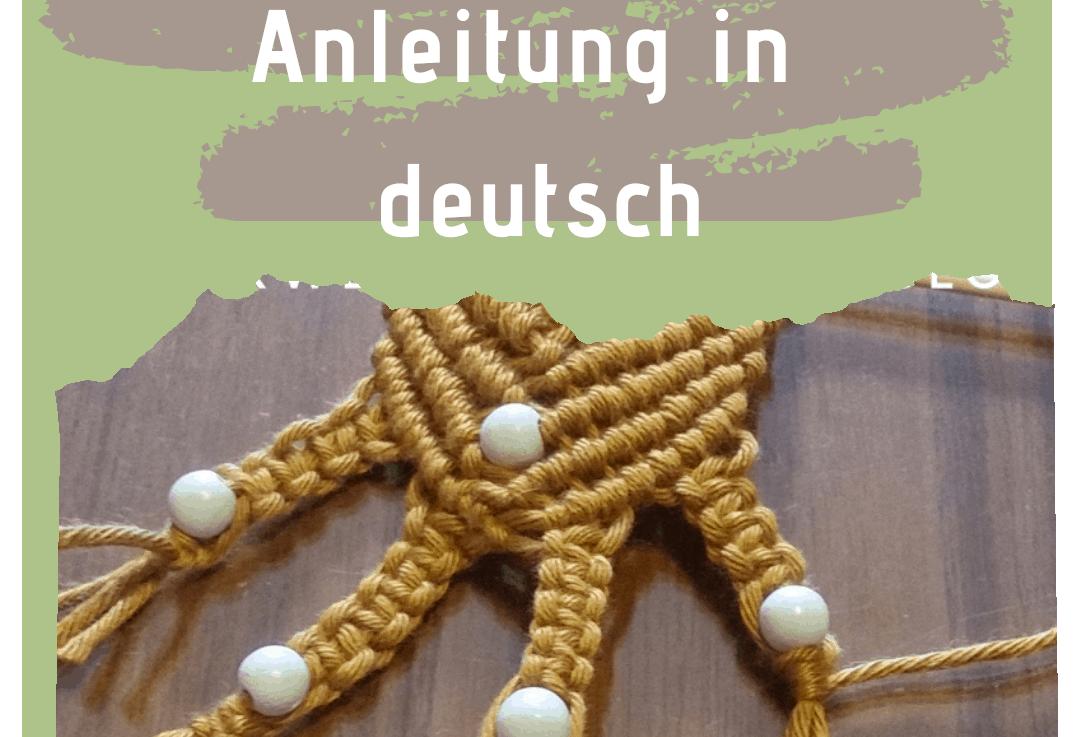 Makramee lernen: Mini-Wandbehang aus Schulgarn / Topflappengarn