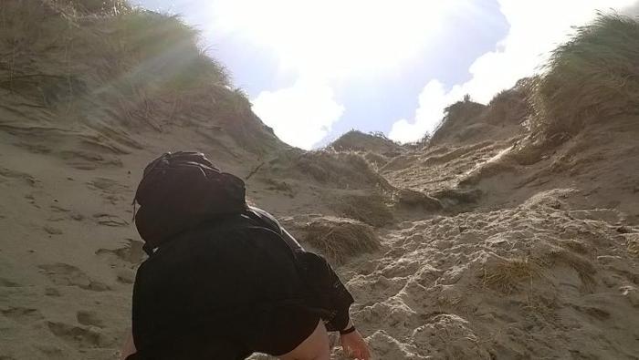 Norre Lyngvig Dünen Klettern
