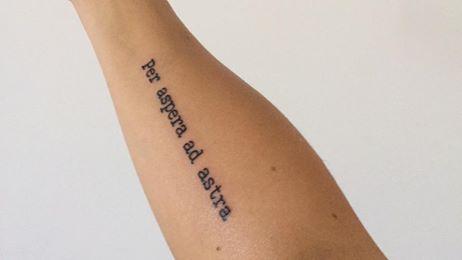 Per Aspera Ad Astra Tattoo Schiena