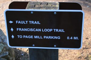 Sign for the Fault Trail