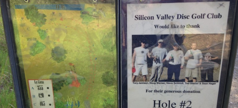 Hole #2 at Hellyer Disc Golf course