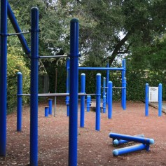 Exercise area near the  Hillview Community Center (Los Altos)