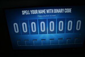 Spell you name with binary code at the Intel Museum