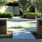 Entrance to the labyrinth of the Grace Lutheran Church in Palo Alto