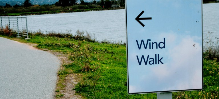 Wind Walk sign at Seal Point Park in San Mateo
