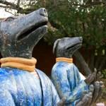 At the sculpture garden at the Palo Alto Art Center