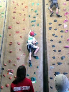 Climber at Planet Granite in Sunnyvale