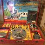 the Atomic Energy Lab is part of the banned toys exhibit at the PEZ museum in Burlingame