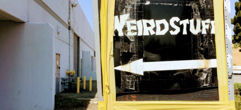 Weird Stuff sign in Sunnyvale