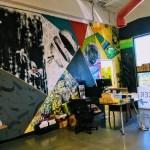 Mural inside the Hacker Dojo, Santa Clara