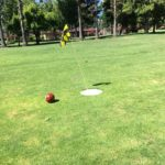 Foot golf hole at Sunken Garden, Sunnyvale