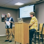 John Weaver introducing me at the Menlo Park library