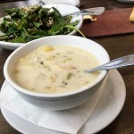 Clam chowder at Sam's Chowder House, Half Moon Bay