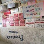 All the ice cream flavors at Preston's in Burlingame