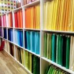 Fabric bolts at Bay Quilts, Richmond