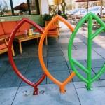 Leaves bike rack, Los Altos
