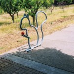 Squirrel bike rack, Los Altos