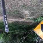 Path marker in Los Altos Hills.