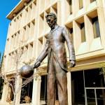 Tesla statue, 260 Sheridan Ave, Palo Alto.