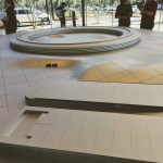 Augmented model of the new Apple building at the visitor center, Cupertino.