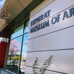Entrance of the Euphrat Museum of Art, Cupertino.