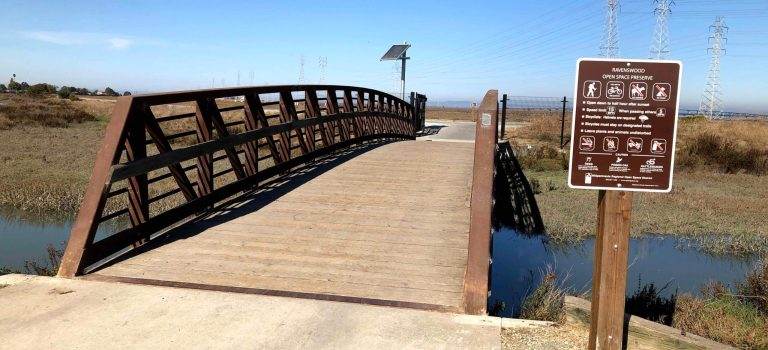Bridge to the Ravenswood Bay Trail in East Palo Alto.
