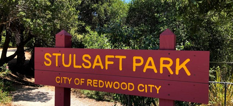 Sign for the Stulsaft park in Redwood City.