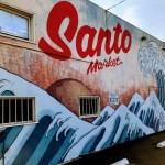 Santo Market mural in J-town, San Jose.