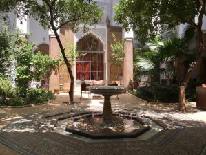 Courtyard with orange trees