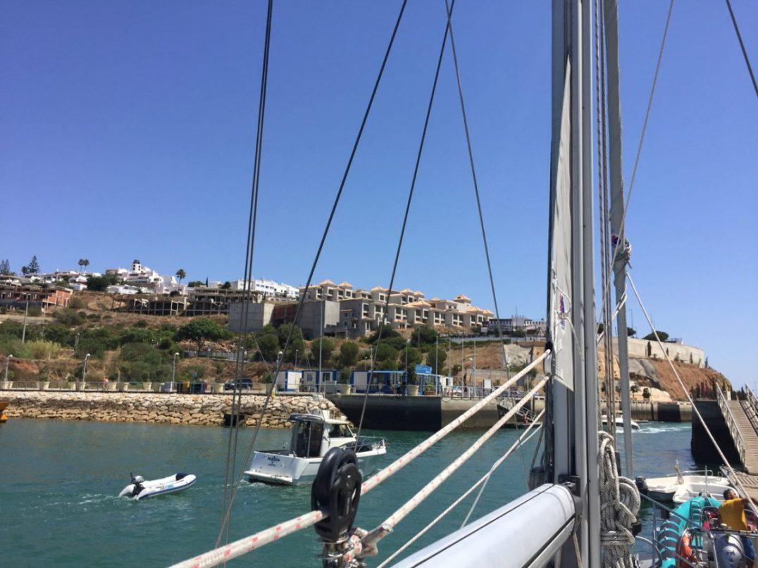 Leaving Albufeira Marina