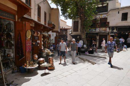 Outside the copper souk