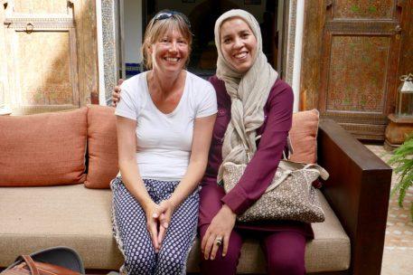Farida with Maria