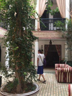 Riad atrium