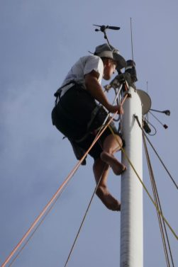 Rigging being checked