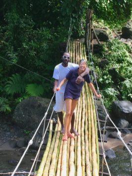 Maurice and Maria on the bridge