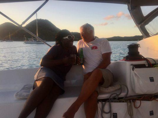 Linda and Chris on Akouavi
