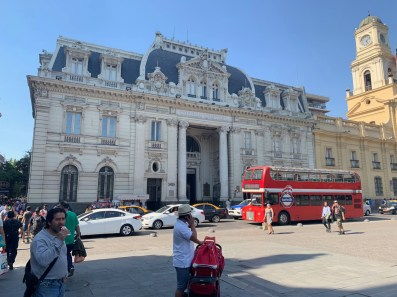 Old post office and London bus
