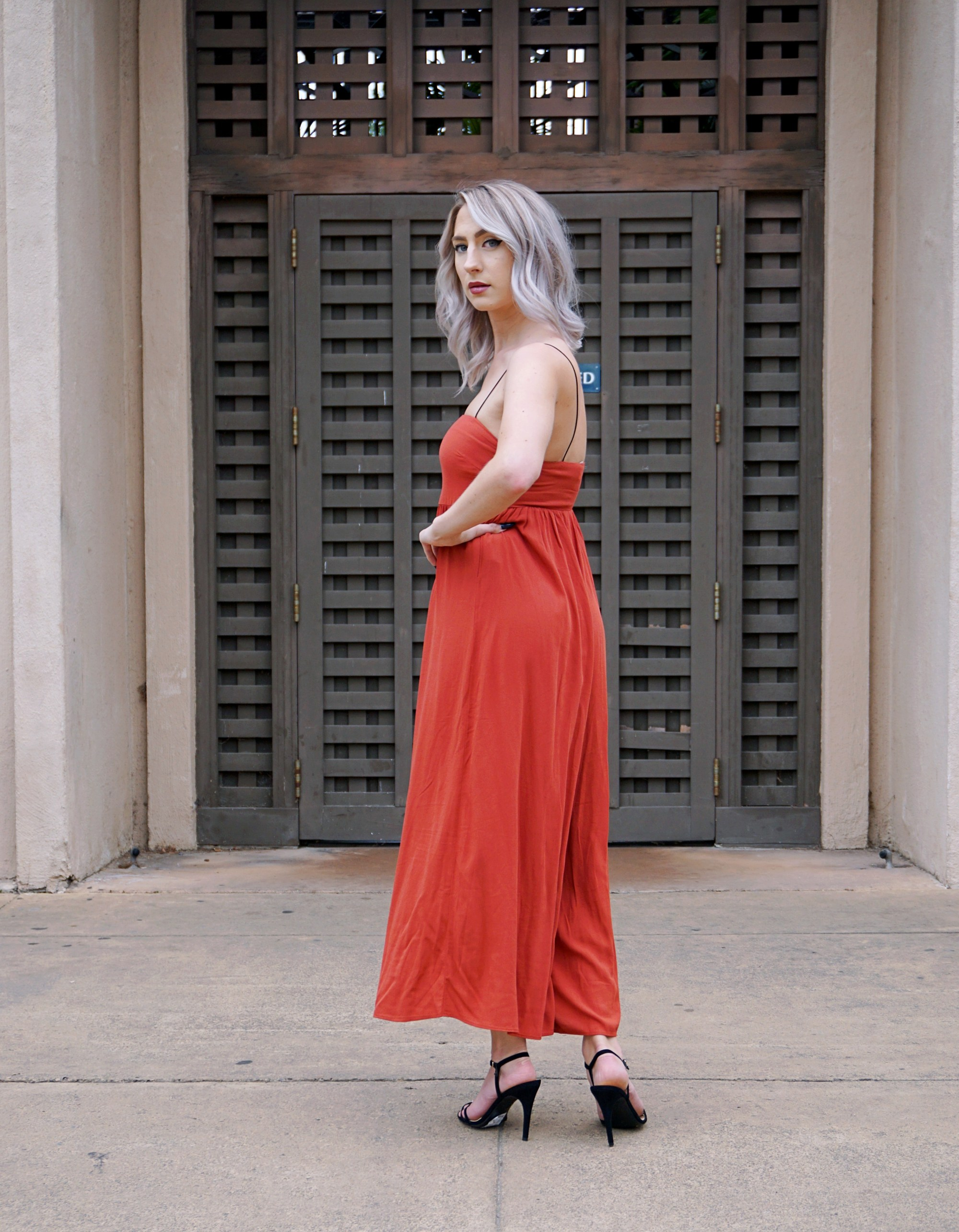 Orange Culotte Jumpsuit & Styling Tips | Until The Very Trend