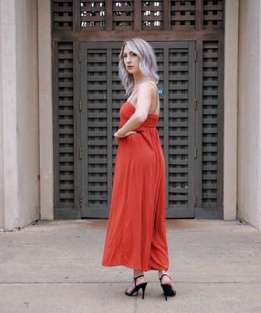 Orange Culotte Jumpsuit & Styling Tips