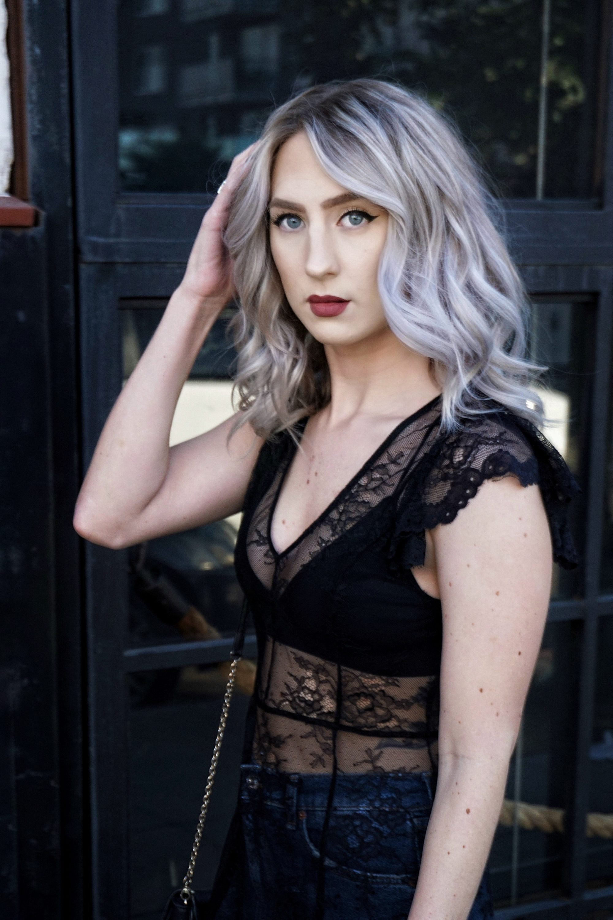 Black Lace Maxi Over Jeans | Until The Very Trend
