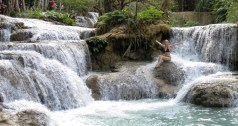 Nature's water park. Kuang Si Waterfalls, Laos