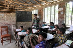 Inside the classroom. Pre pencil delivery (obviously). The teacher, incidentally, is one of my students.